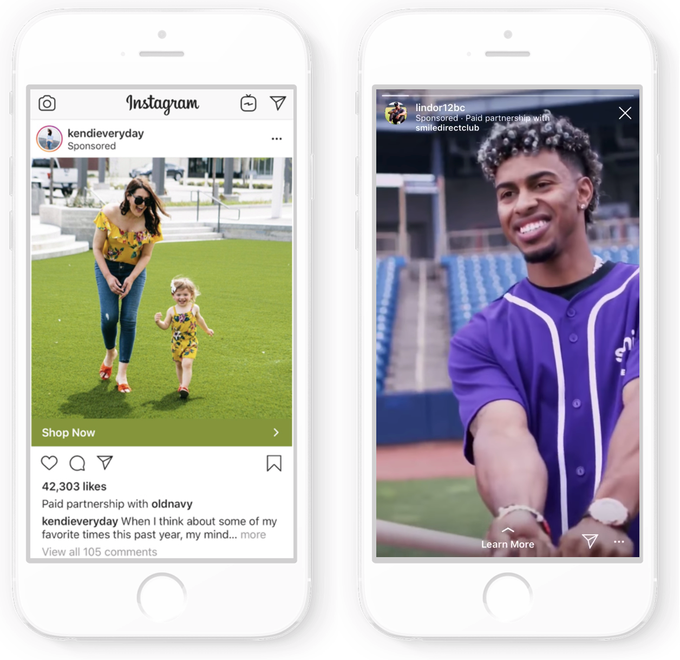 """Instagram's branded content ads through """"Sponsored by"""" or """"Paid partnership with"""" forces creators to specify when the is a sponsorship for their posts."""